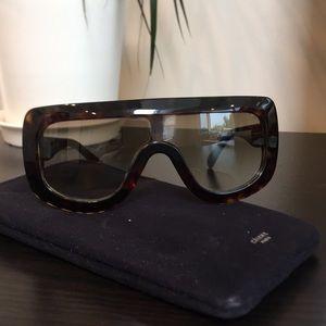 Celine Flattop Shield Sunglasses